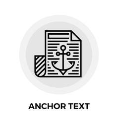 Anchor text icon vector