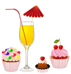 Party Food vector image