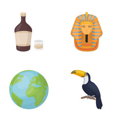 Alcohol earth and other web icon in cartoon style vector