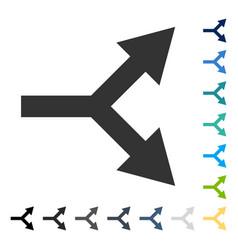 Bifurcation arrow right icon vector