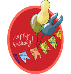 birthday greeting card with balls vector image vector image