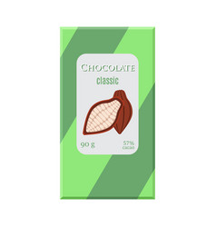chocolate bar cacao label package sweet milky vector image vector image