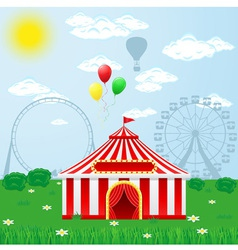 circus tent on nature vector image vector image