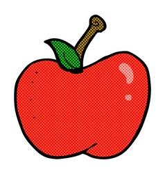 Comic cartoon apple vector