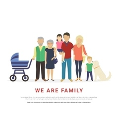 Concept of big family portrait vector