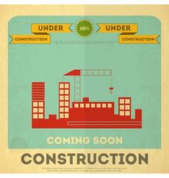 Construction placard vector
