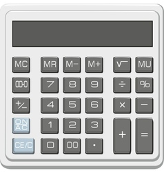 desktop office calculator with lcd display vector image vector image