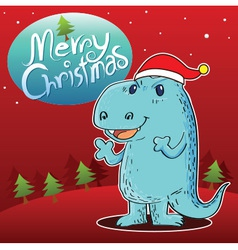 Dragon Merry Christmas vector image