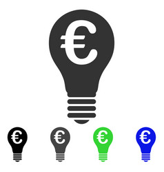 Euro patent flat icon vector