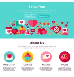 I Love You Website Design vector image vector image