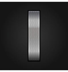 Letter metal chrome ribbon - i vector