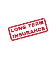 Long term insurance rubber stamp vector
