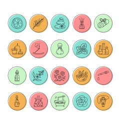 Modern line icons of aromatherapy and vector