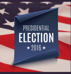 Presidential election 2016 background vector