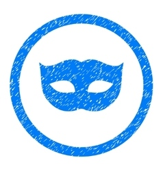 Privacy mask rounded icon rubber stamp vector