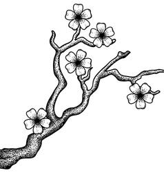 Sakura retro vector image