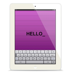 Tablet computer white vector image