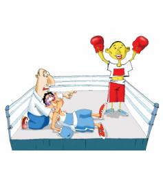 the chinese boxing vector image