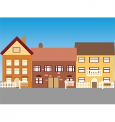town vector image vector image