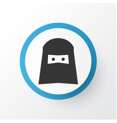 woman icon symbol premium quality isolated muslim vector image vector image