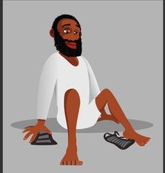 Muslim religion shoes vector image