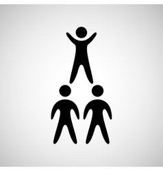 Silhouete men pyramid persons design vector