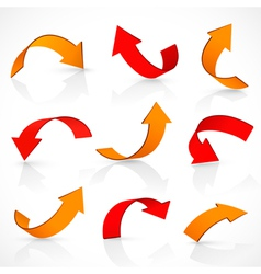 Red and orange arrows vector