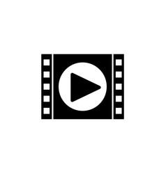 video marketing solid icon vector image