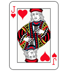 Jack of hearts french version vector