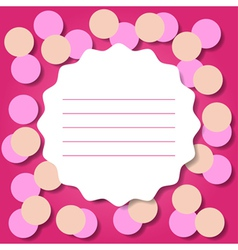 Invitation or greeting card template vector