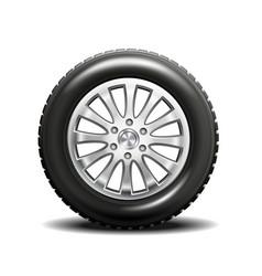 Single car tire vector