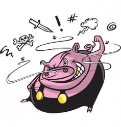 road hog vector image