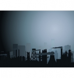 Industrial city vector