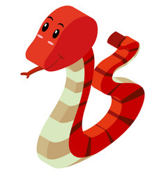 3d design for red rattlesnake vector
