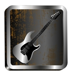 Steel icon guitar engraving vector