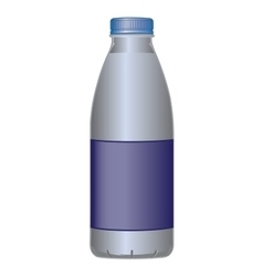 Pet bottle dairy product for milk and liquids vector
