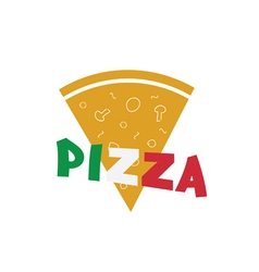 Pizza slice food italy vector