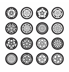 Wheel disks vector