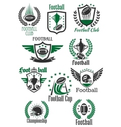 American football retro symbols for sport design vector