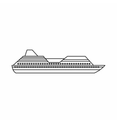 Cruise liner icon outline style vector image