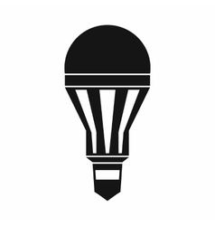 Led bulb icon simple style vector