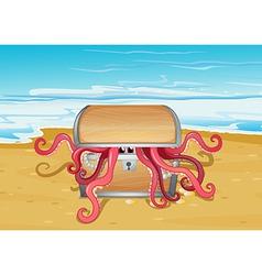A sea with a treasure vector