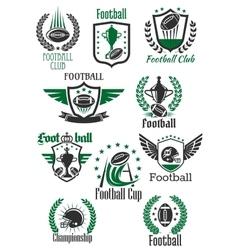 American football retro symbols for sport design vector image vector image
