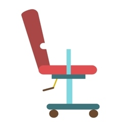 Barber chair icon flat style vector