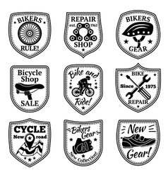 Bicycle badges set With chain wheel vector image vector image