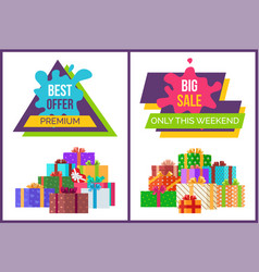 Big sale only for this weekend promotional poster vector