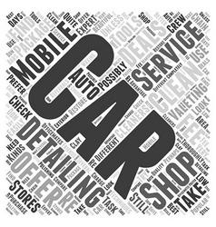 Car valeting detailing shops or mobile services vector