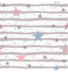 Creative hand drawn seamless pattern with stars vector
