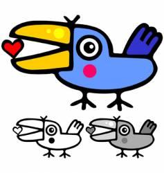 cute Valentine's bird vector image
