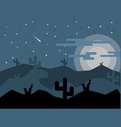 desert landscape flat design vector image